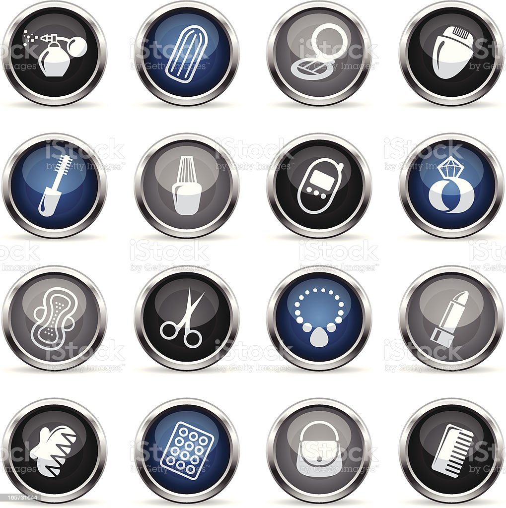 Supergloss Icons - Woman's Accessories royalty-free supergloss icons womans accessories stock vector art & more images of adult