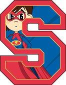 Superhero Alphabet Learning Letter S