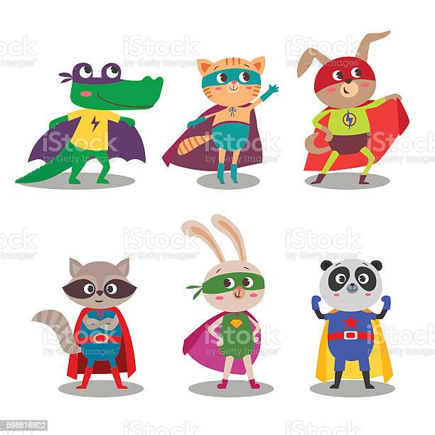 Superhero animal kids cartoon vector illustration vector id598816922?b=1&k=6&m=598816922&s=612x612&h=qogca0ot9gcwyxrpjwt2oga69ftiwzgqc66xrtaiyq8=