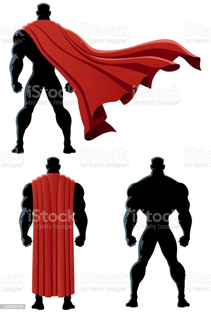 Superhero Back Isolated vector art illustration
