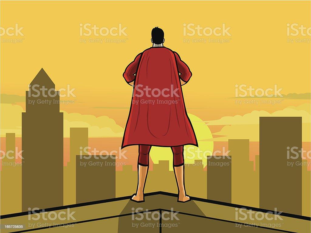Superhero Back vector art illustration