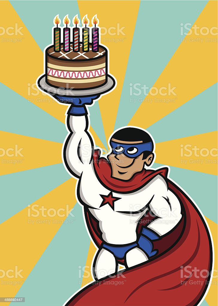 Superhero birthday royalty-free stock vector art