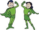 Superhero Boy and Girl
