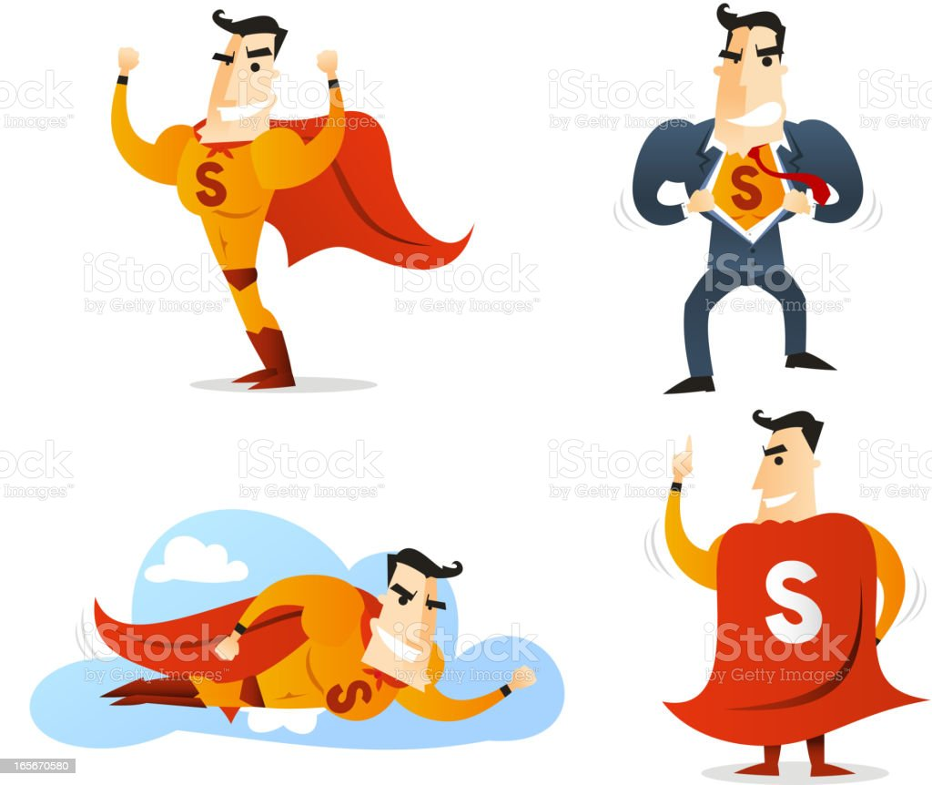 Superhero Character 1 vector art illustration