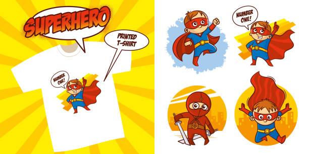 ilustrações de stock, clip art, desenhos animados e ícones de superhero character superheroes set vector illustration design - super baby
