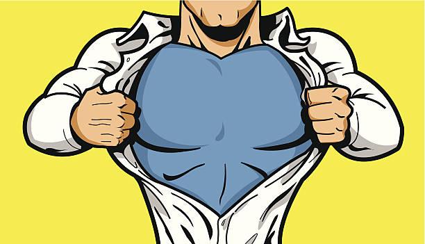 Superhero Chest for Your Logo vector art illustration