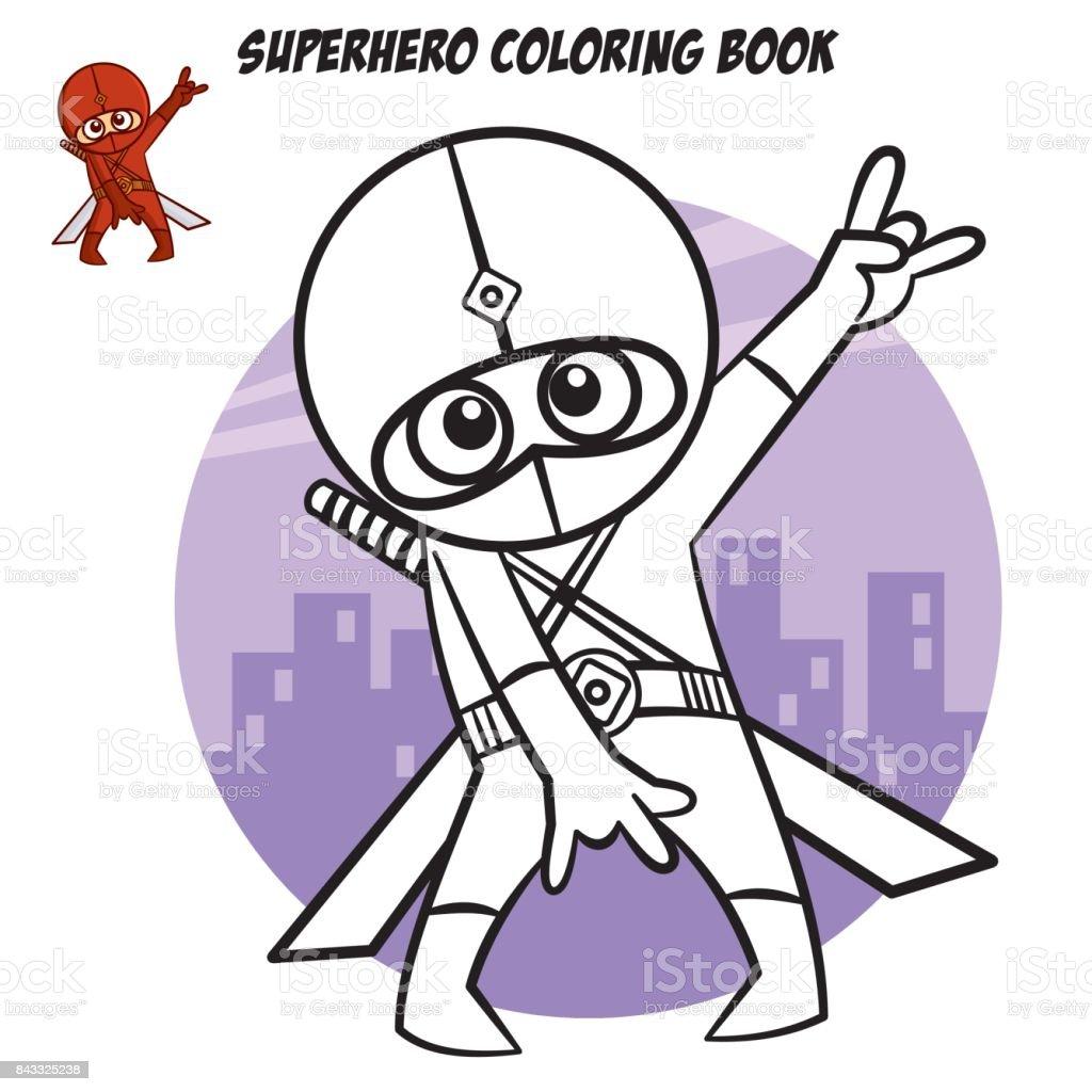 Ilustración de Libro Para Colorear De Superhéroes Carácter Cómico ...