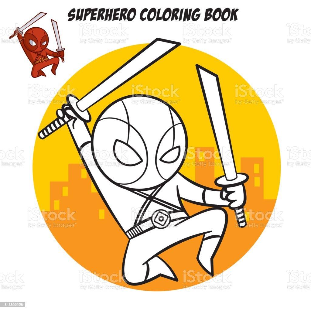 Magnífico Libro De Colorear Superhéroe Embellecimiento - Enmarcado ...