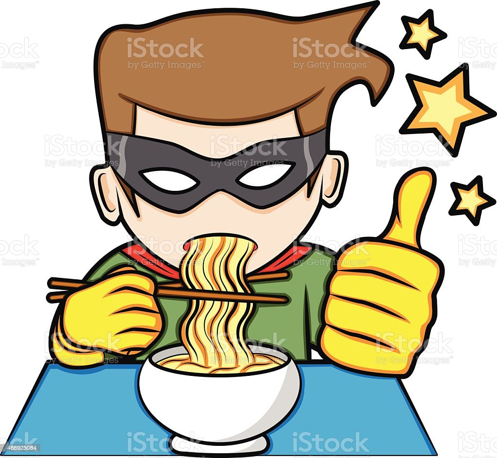 royalty free man eating noodles clip art vector images rh istockphoto com clip art eating cake clipart heating