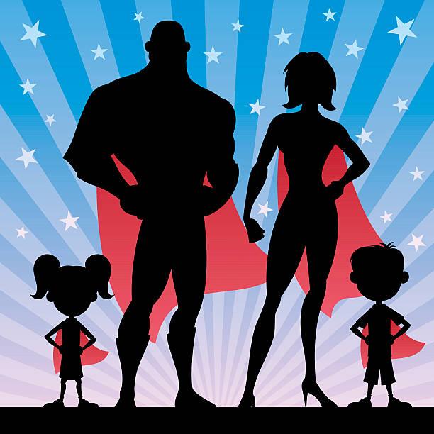 ilustrações de stock, clip art, desenhos animados e ícones de super-herói família - super baby