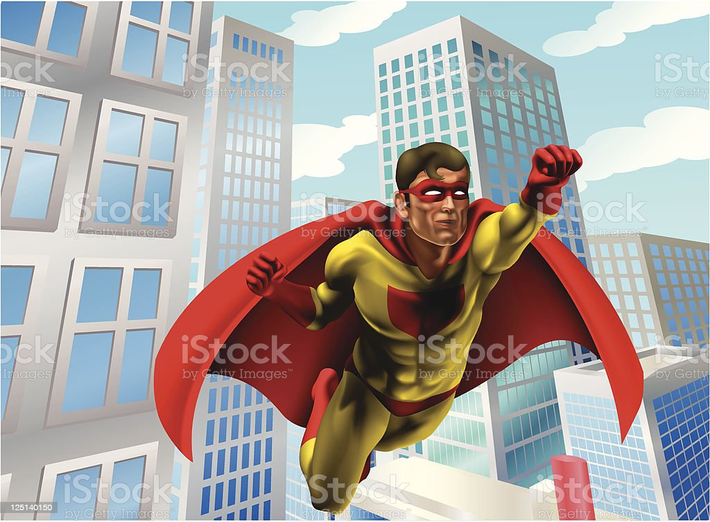 Superhero flying through city royalty-free superhero flying through city stock vector art & more images of adult