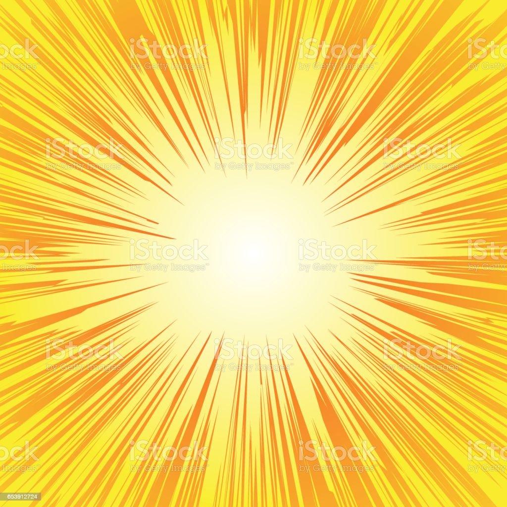 スーパー ヒーロー フレーム、漫画本ラジアル ライン背景、漫画やアニメ スピード グラフィック テクスチャ、爆発ベクトル図、カード、太陽光線やスター バースト要素の四角形の戦いスタンプ ベクターアートイラスト