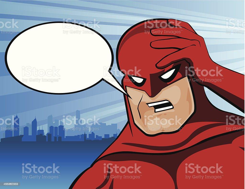 Superhero in Distress royalty-free stock vector art