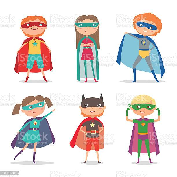 Superhero kids boys and girls cartoon vector illustration vector id601136016?b=1&k=6&m=601136016&s=612x612&h=qhtlje1bwbqs ykxjg2pcfgwg6w9ylubqwge9nrw868=