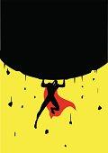 Superhero Lifts a Big Rock