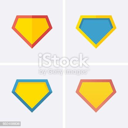 Superhero logo Icon. Vector flat