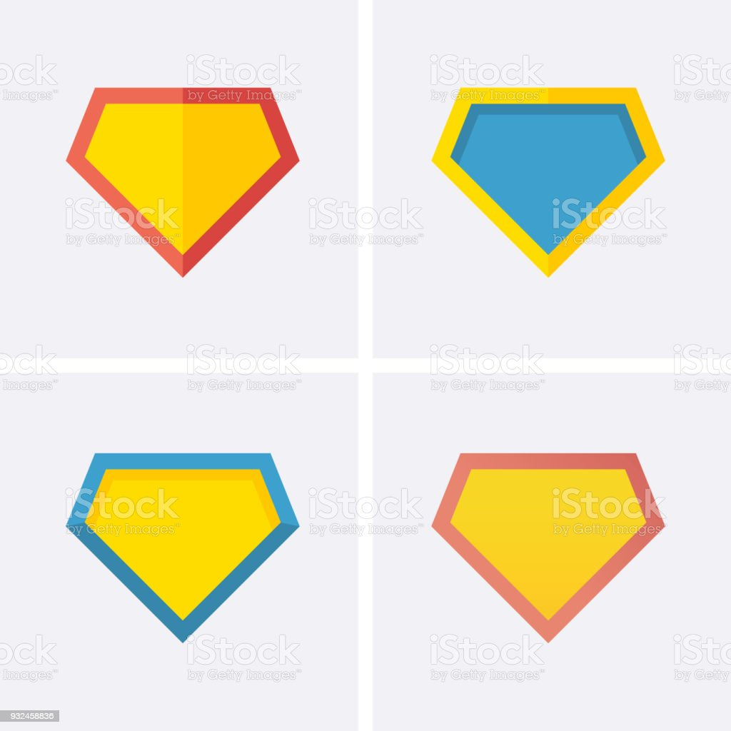 Superhero logo Icon vector art illustration