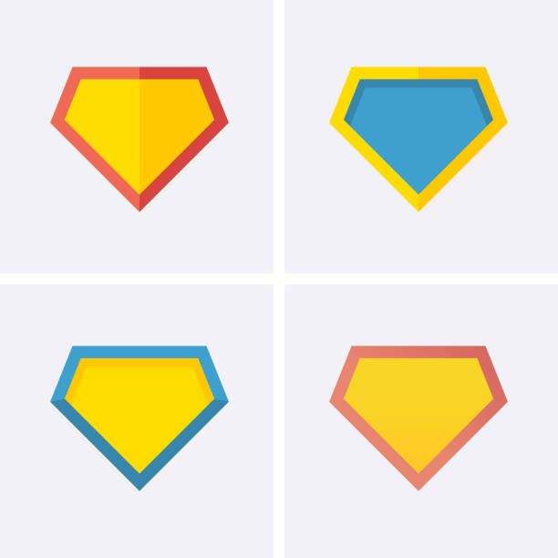 superheld logo symbol - superhelden stock-grafiken, -clipart, -cartoons und -symbole
