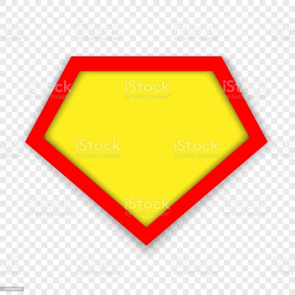 スーパー ヒーローのロゴのテンプレート アイコンのベクターアート素材