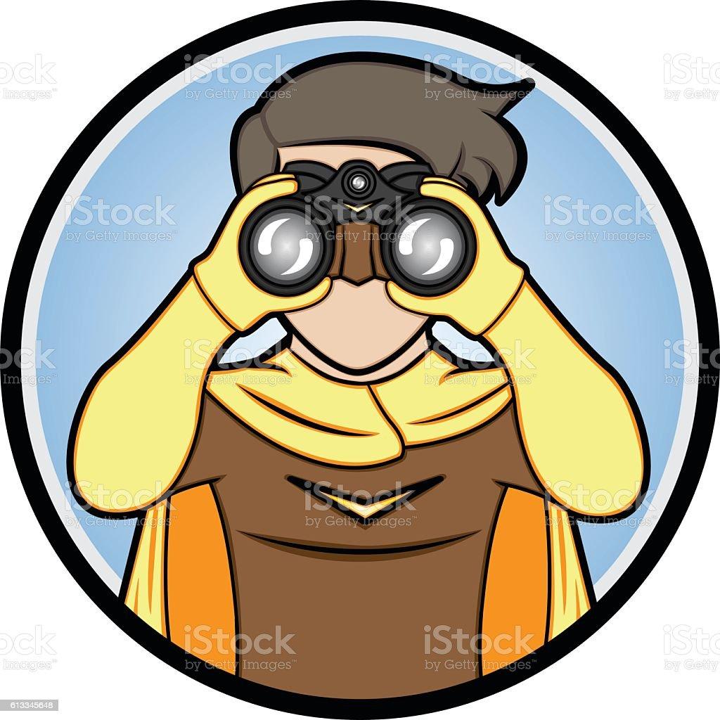 royalty free boy binoculars clip art vector images illustrations rh istockphoto com binoculars clipart for kids binoculars clip art free