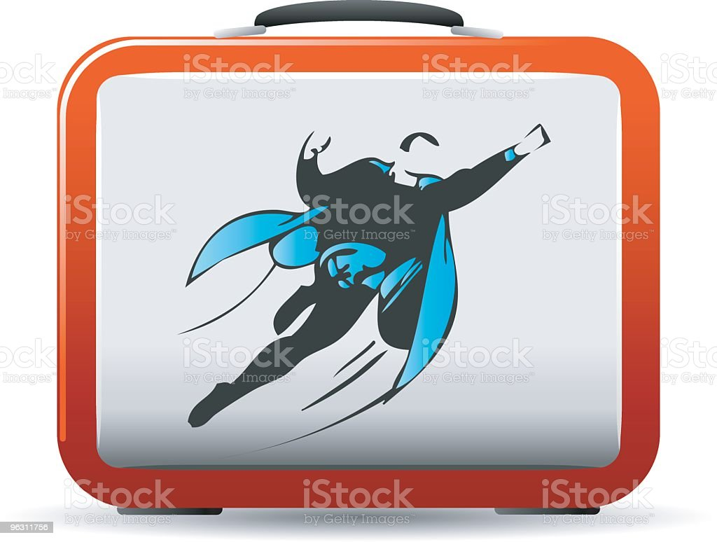 Superhero Lunchbox vector art illustration