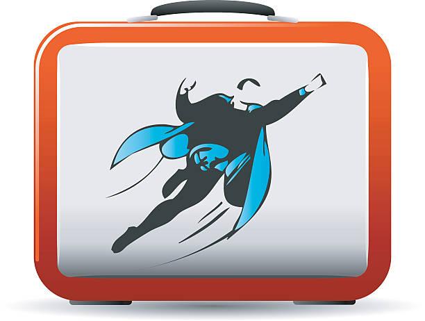 superhero lunchbox - lunch box stock illustrations, clip art, cartoons, & icons