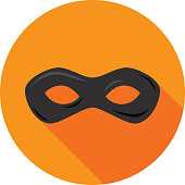 Superhero Mask Icon Flat