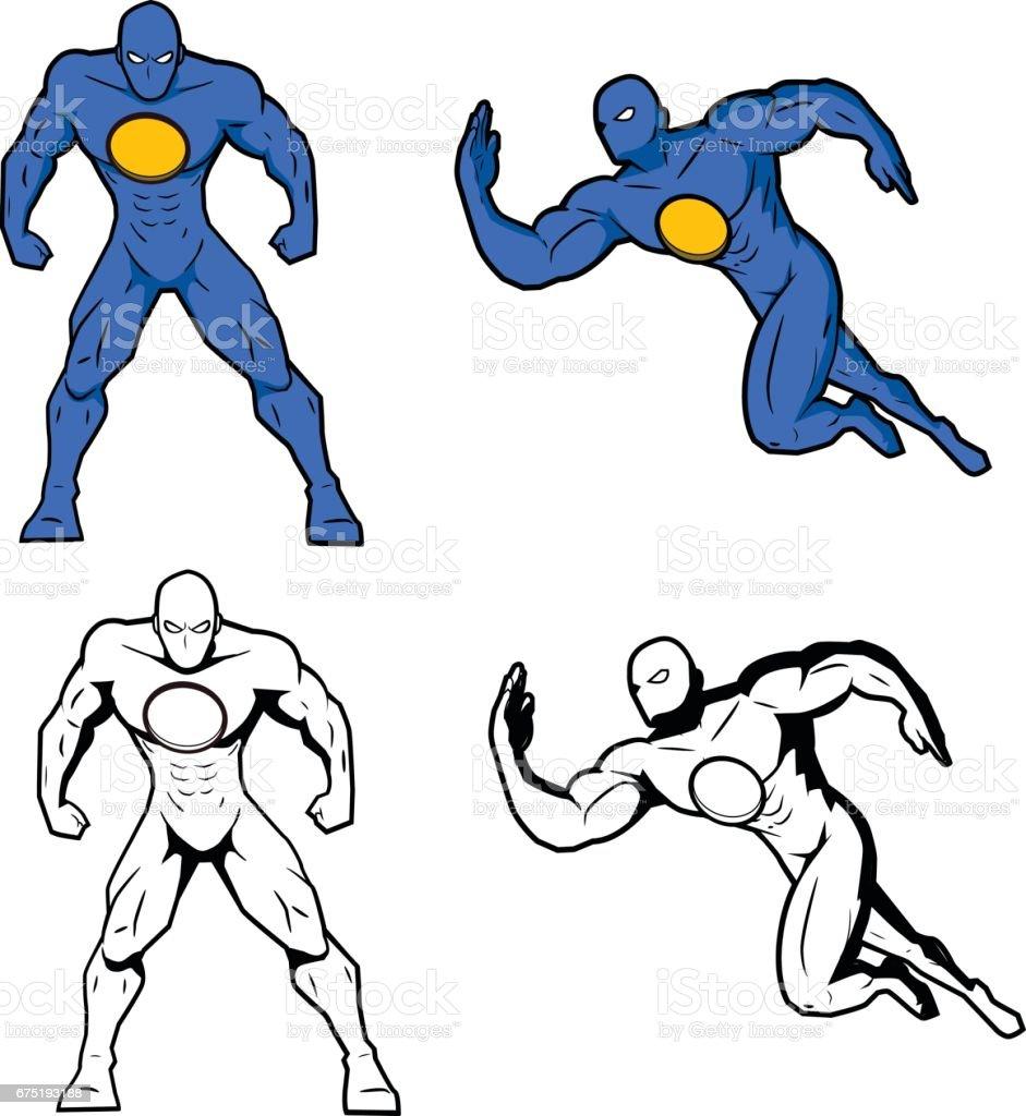 Modèle de super-héros - Illustration vectorielle