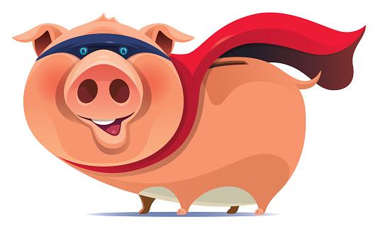 superhero piggy
