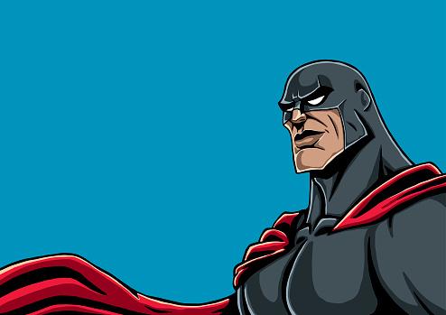 Superhero Portrait Black