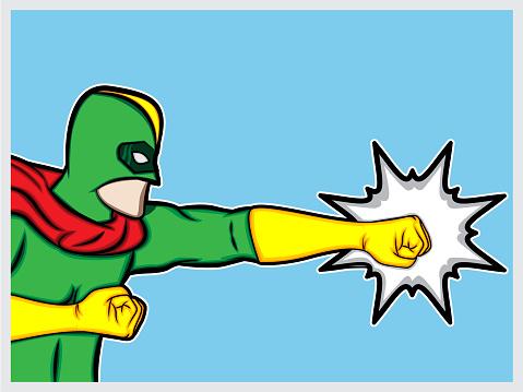 Superhero punch vector illustration