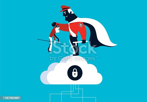 istock superhero security guard catching cyber thief 1282993861