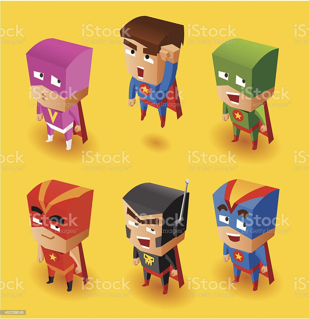Superhero Set royalty-free superhero set stock vector art & more images of activity