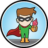 Superhero Showing Ice Cream