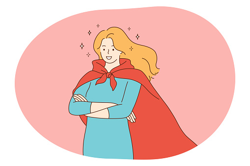 Superhero, superman, power concept