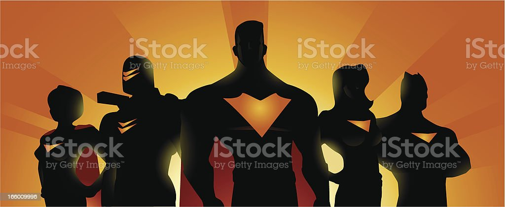 Superhero Team Banner royalty-free superhero team banner stock vector art & more images of athlete