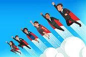 istock Superhero teamwork people concept. 1309446445