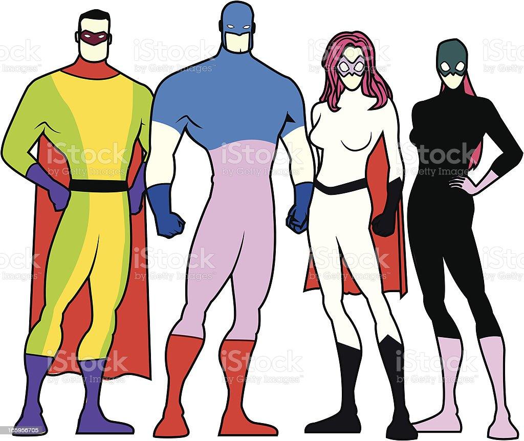 Superheld Uniformvorlage Stock Vektor Art und mehr Bilder von Bunt ...