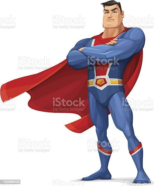 Superhero Stock Illustration - Download Image Now