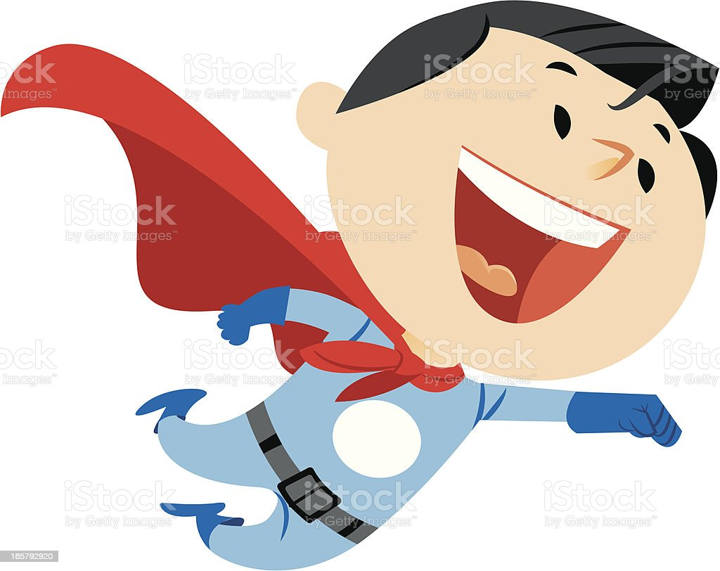 Superhero vector art illustration