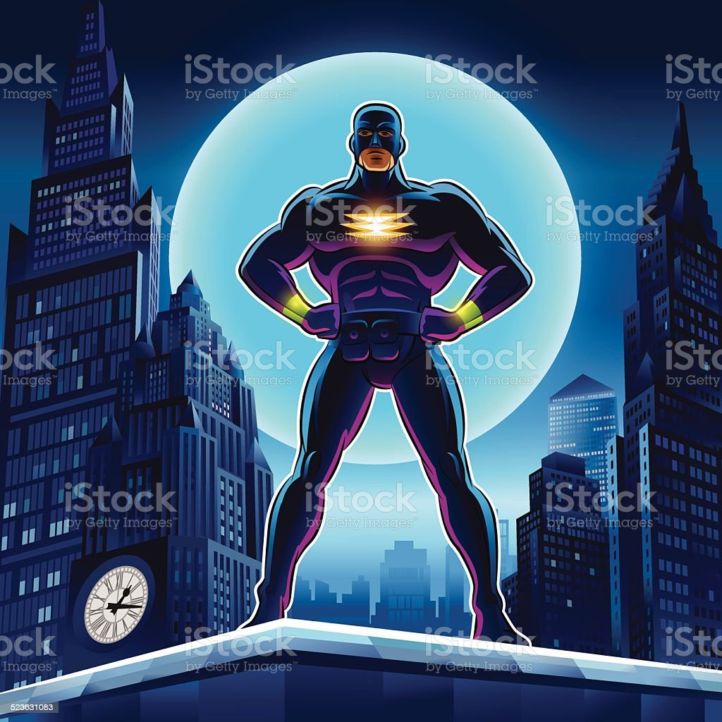 Superhero. Vector illustration on a background vector art illustration