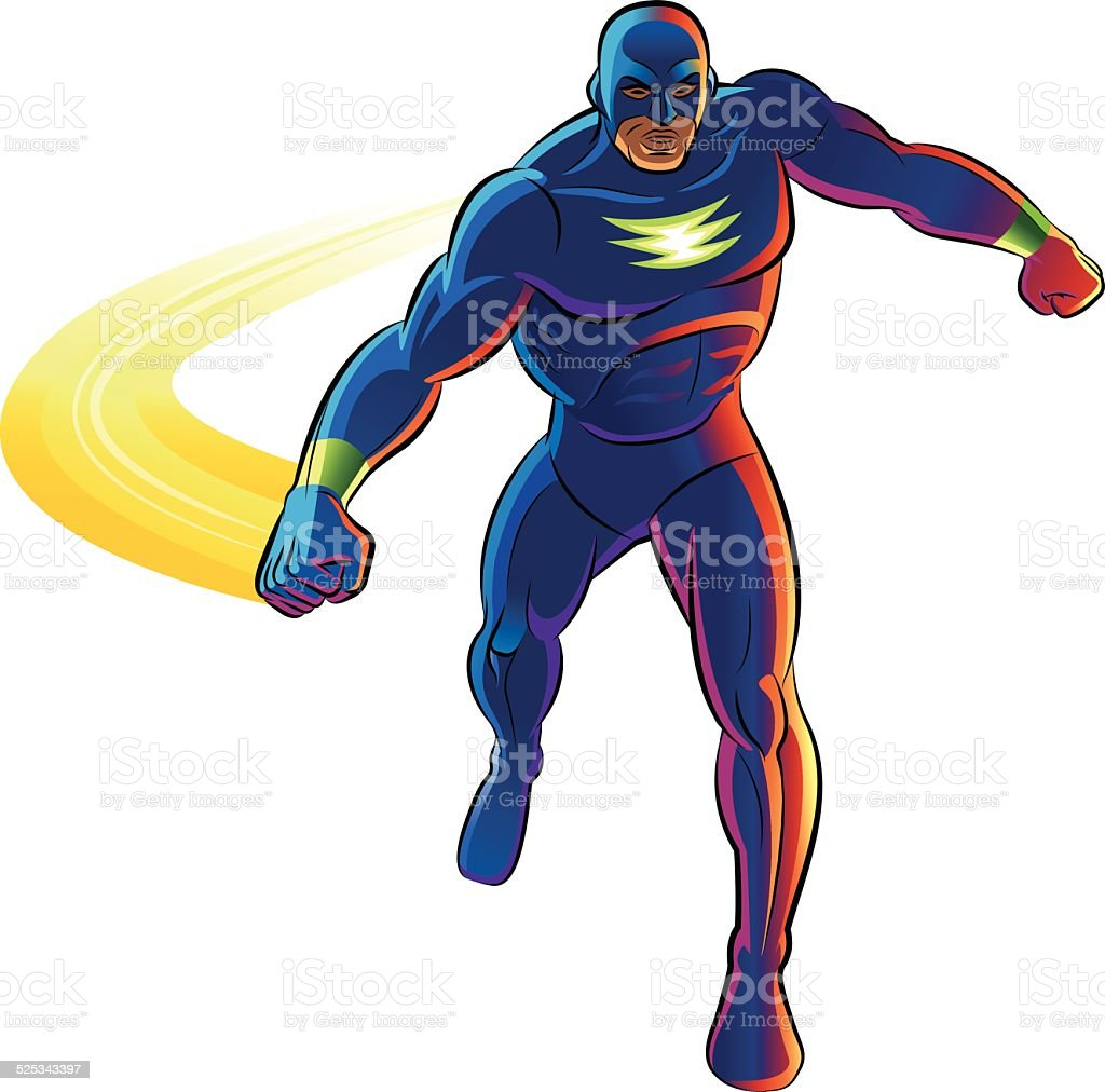 Superhero. Vector illustration on a white background vector art illustration