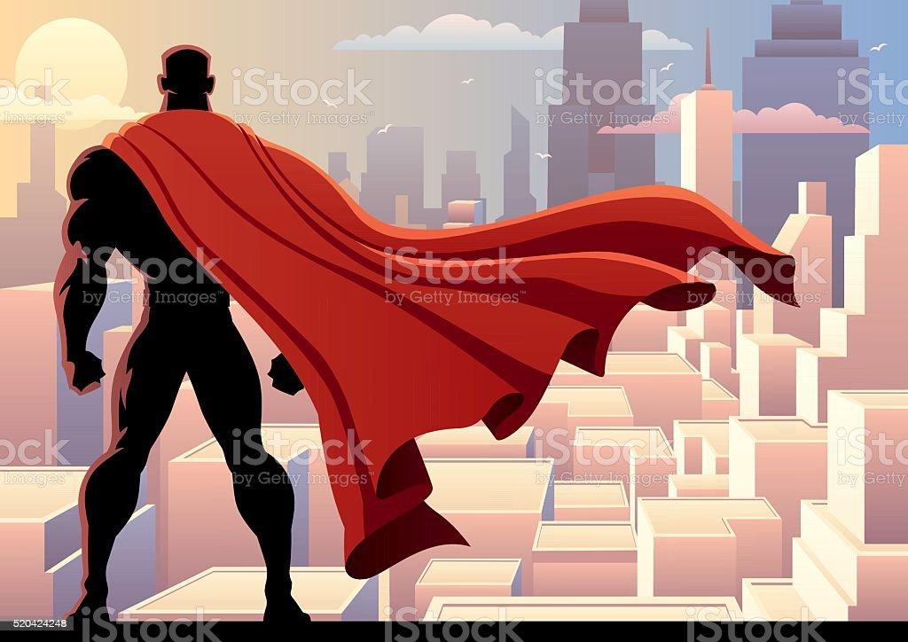 Superhero Watch 2 vector art illustration