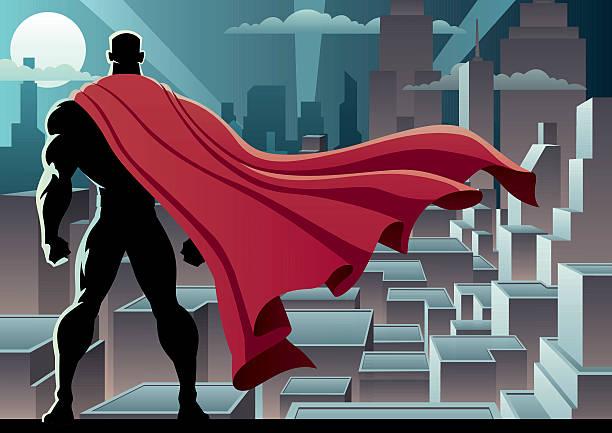 スーパーヒーローウォッチ 3 - 漫画の風景点のイラスト素材/クリップアート素材/マンガ素材/アイコン素材