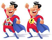 Superhero With Raised Fist