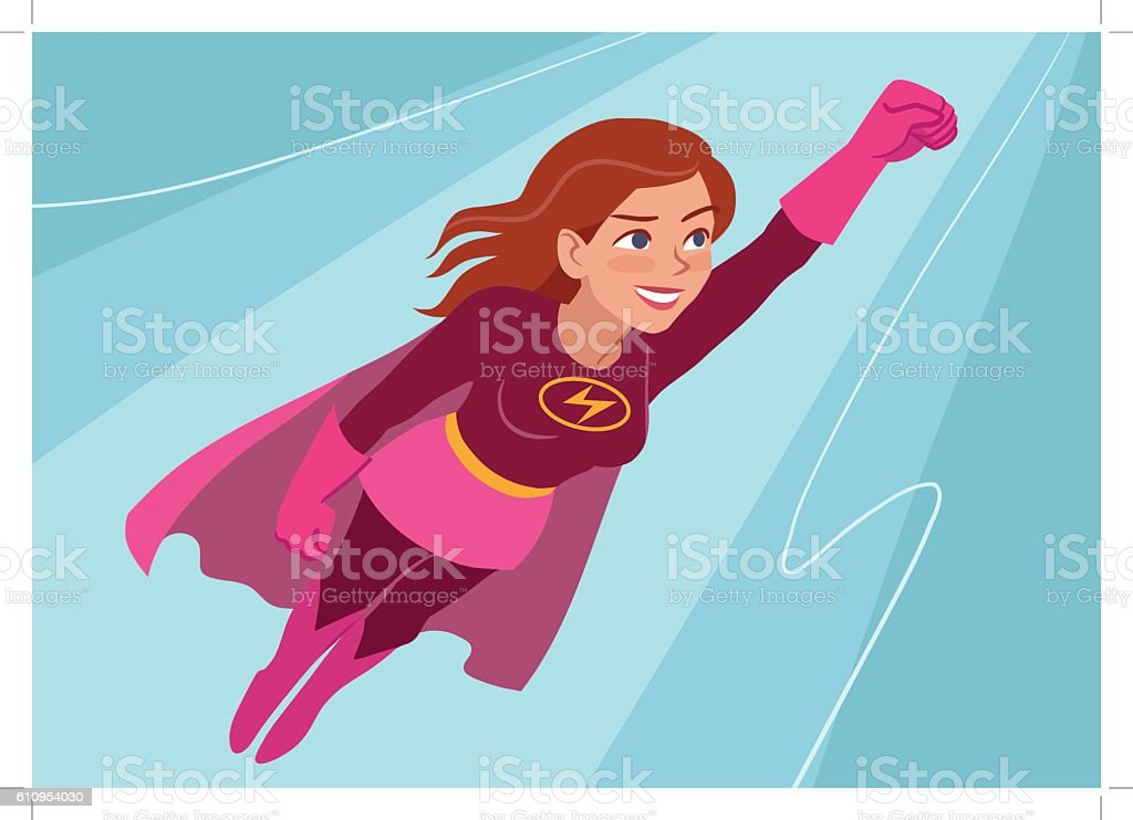 royalty free superwoman clip art vector images illustrations istock rh istockphoto com superman clipart images superwoman clipart pictures