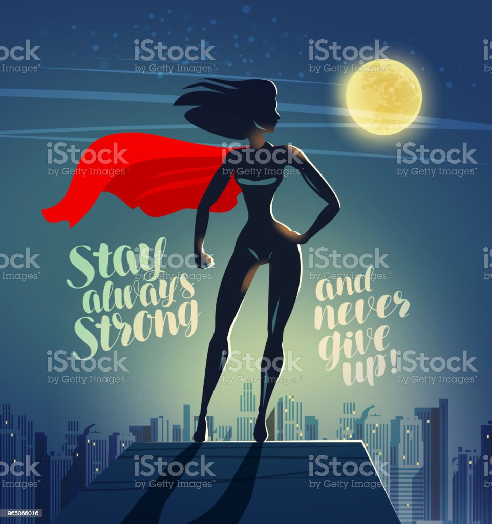 Superhero woman standing on the roof of a skyscraper. Comics cartoon vector illustration royalty-free superhero woman standing on the roof of a skyscraper comics cartoon vector illustration stock vector art & more images of authority