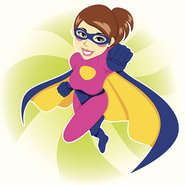 superheld frau - superwoman stock-grafiken, -clipart, -cartoons und -symbole