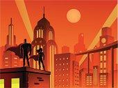 Superheroes in Retro City