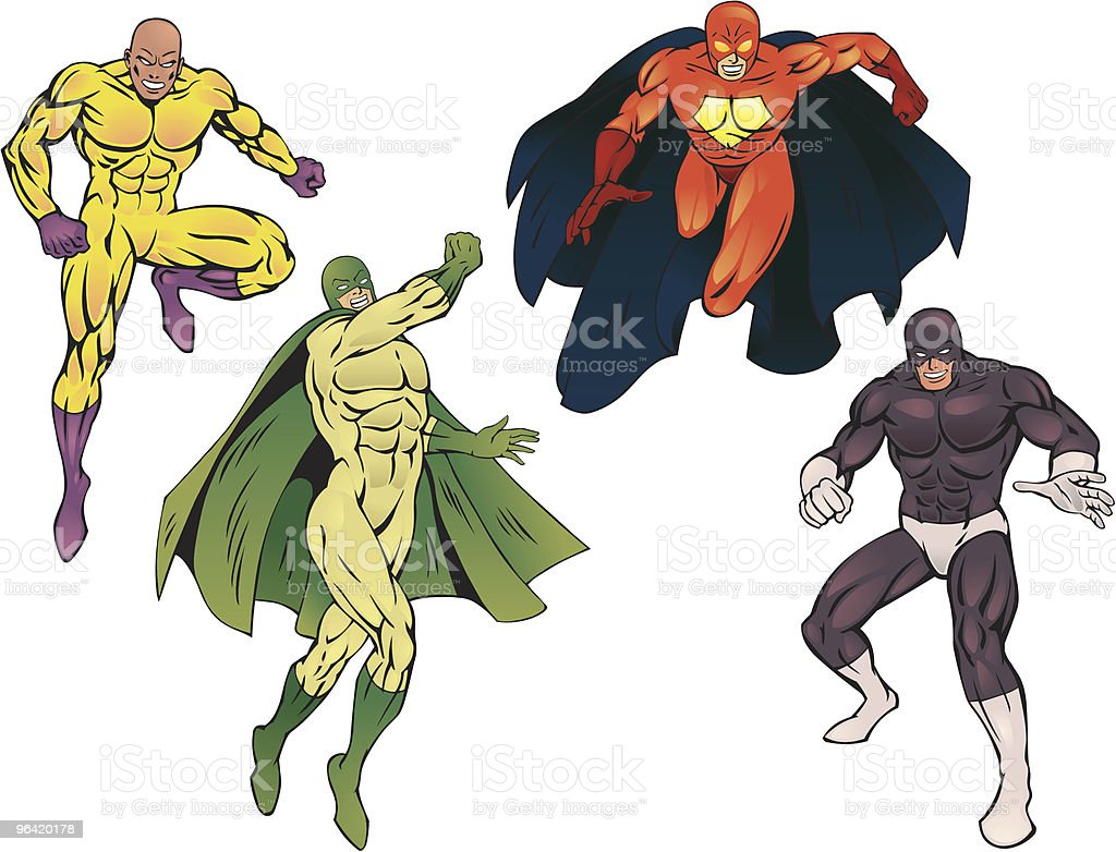 SuperHeroes Pack III vector art illustration